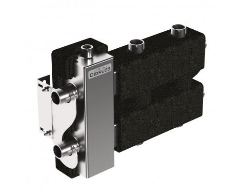 BMSS-60-3DU.EPP (до 60 кВт, вх. G 25мм, 1+1+1 контура G 25мм, 4D-кронштейны K.UMS, EPP-термоизоляция)